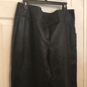 Flare legs 100% leather pants